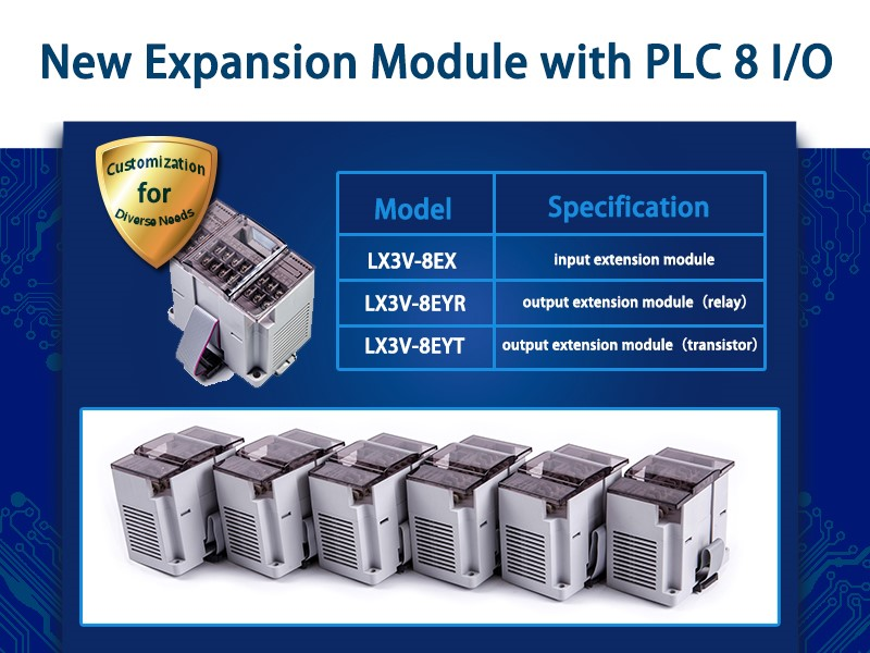 New Expansion Module with PLC 8 IO