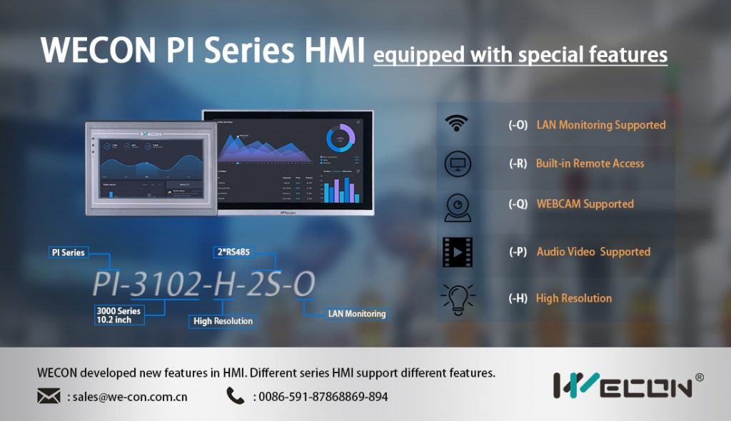Wecon Special Features in HMI PI Series